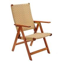 Achla Designs Eucalyptus Wood Indoor Outdoor Polyweave Folding Chair - $121.39