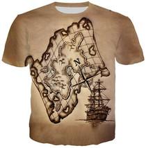 Fashion Men/Women giant pirate ship fantasy 3D Print Casual T-Shirt Shor... - $33.00