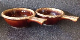 2 Hull Pottery Brown Drip Glaze Vtg Chili Soup Bowl Lot Set Oven Proof H... - $11.26