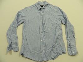 M87 Vtg Vintage POLO RALPH LAUREN Blue Striped Dress Shirt MEN'S 15 1/2 33 - $38.38