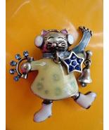 Musical cat wearing earmuffs and scarf pin  3  thumbtall