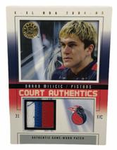 Darko Milicic 2004-05 Fleer E-XL Court Authentics Patch Detroit Pistons ... - $18.69