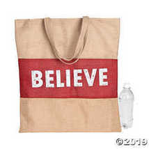 Holiday Handicraft Burlap Tote Bag - $8.74