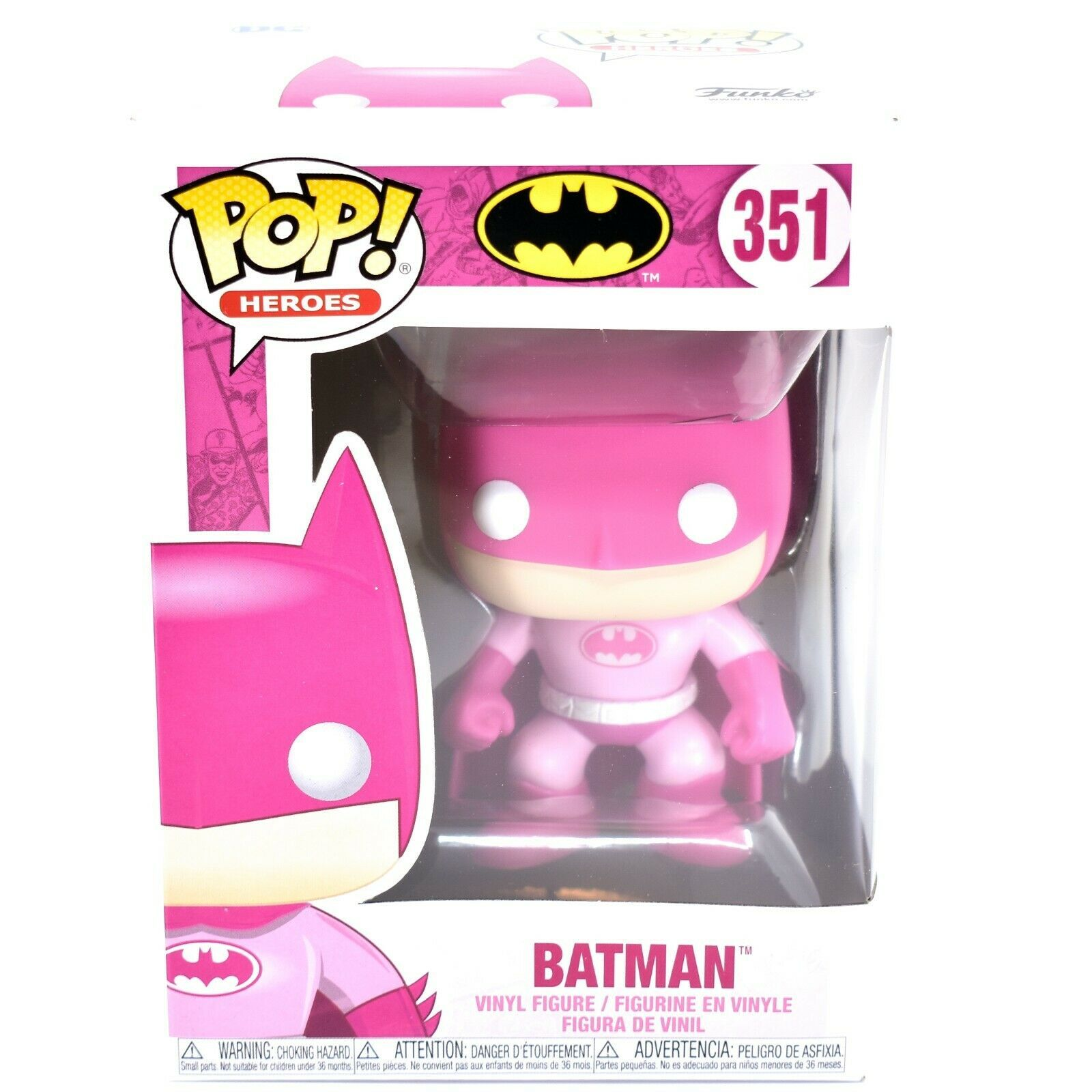 Funko Pop! Heroes Batman #351 BCRF Pink Breast Cancer Awareness Figure