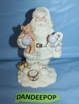Lenox Santa Figure With Teddy Bear Christmas Holiday Seasonal Decor Gift... - $29.69