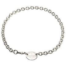 """Tiffany & Co.Argent Sterling """" Retour à """" Ovale Étiquette Link Necklace 39.4cmL - $311.86"""