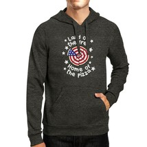 Home Of The Pizza Unisex Dark Grey Funny Graphic 4th Of July Hoodie - $25.99+
