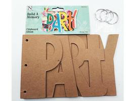 "Nicole Crafts Build a Memory ""PARTY"" Chipboard Album #MEM5410"