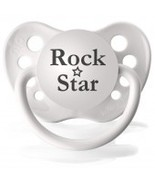 Rock Star Pacifier - White, Unisex, Ulubulu - $6.00