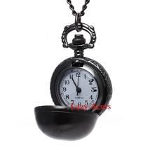 Antiqued Round Quartz Pocket Watch Necklace Free Shipping - $20.00