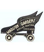 MADISON GARDENS CHICAGO ROLLER SKATING LABEL 1940s-50s - $6.98