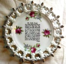 Lefton China The Lord's Prayer/Our Father Collector Plate Gold-Trim Rose... - $9.99