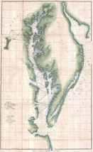 1851 Coast Survey Map Nautical Chart the Chesap... - $14.85