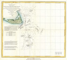 An item in the Antiques category: 1849  US Coast Survey Map of Nantucket and the Davis Shoals