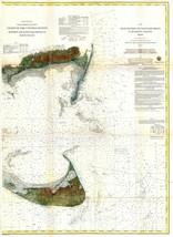 1860  US Coast Survey Chart or Map of Nantucket Island Massachusetts - $15.84