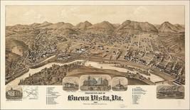 An item in the Everything Else category: 1891 BUENA VISTA old VIRGINIA map GENEALOGY atlas  poster ROCKBRIDGE county VA 5