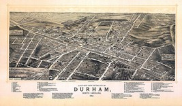 An item in the Everything Else category: 1891 DURHAM NORTH CAROLINA map GENEALOGY atlas  poster ORANGE  WAKE county NC 4