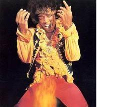 Jimi Hendrix Guitar Fire Vintage 11X14 Color Mu... - $13.95