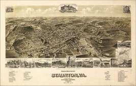 An item in the Everything Else category: 1857 STAUNTON antique VIRGINIA map GENEALOGY atlas  poster history old    VA 18
