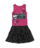 NEW Monster High Skull Girls Glittering Sleeveless Tulle Party Vest Dres... - £14.99 GBP