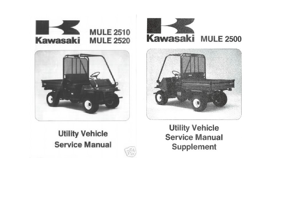 kawasaki mule 2500 2510 2520 shop service repair manual. Black Bedroom Furniture Sets. Home Design Ideas