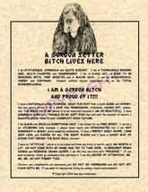 A Gordon Setter Bit^h Lives Here - $20.00
