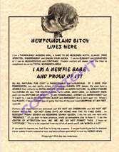 A Newfoundland Bit^h Lives Here (Landseer) - $20.50