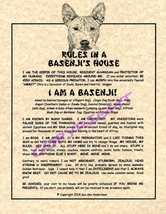 Rules In A Basenji's House - $20.70
