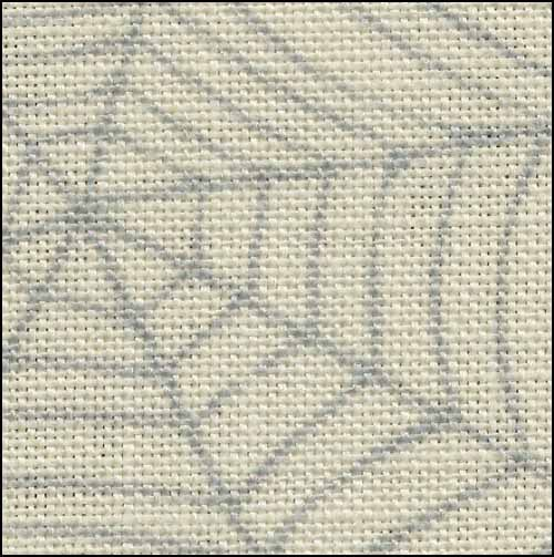 Primary image for Cobweb 28ct linen 35x39 halloween printed cross stitch Fabric Flair