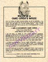 Rules In A Cane Corso's House - $20.50