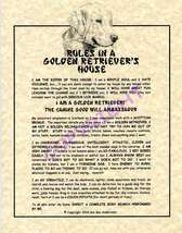 Rules In A Golden Retriever's House - $20.70
