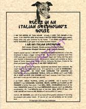 Rules In An Italian Greyhound's House - $20.70