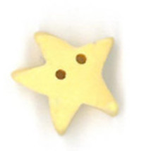 "Med Butter Star 3462m handmade clay button .44"" Just Another Button Co - $1.60"