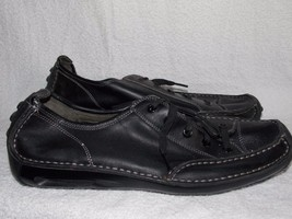 Cole Hann Nike Air Black Leather LACE UP Shoes For Men 11M Used - $79.19