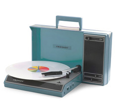 Crosley portable blue turntable thumb200
