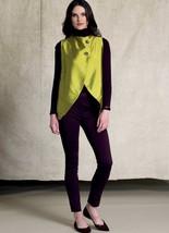 V9216 Vogue Sewing Patterns Misses' Seamed, Tulip-Hem Semi Vests and Pants New - $22.43