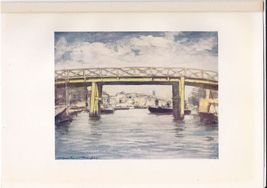 "1905 Print ""The Lemon Bridge"" Japan A Record in Colour - $12.80"