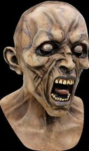Adult Latex World War Z Scream Zombie Deluxe Halloween MONSTER MASK - £82.78 GBP