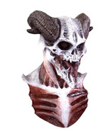 Scary Halloween Mask Devil Demon Horned Skull - $59.39