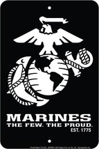 """Marines """"The few. The Proud"""" Embossed Metal Tin... - $9.85"""