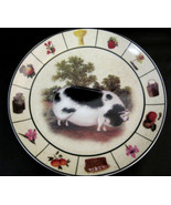 Pig Collector Plate Barnyard Collection Formalities by Baum Bros - $29.95