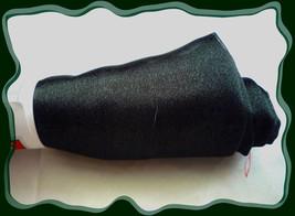 Hunter Green Shimering Organza Sheer Fabric Remnant .67 yd Polyester - $1.50
