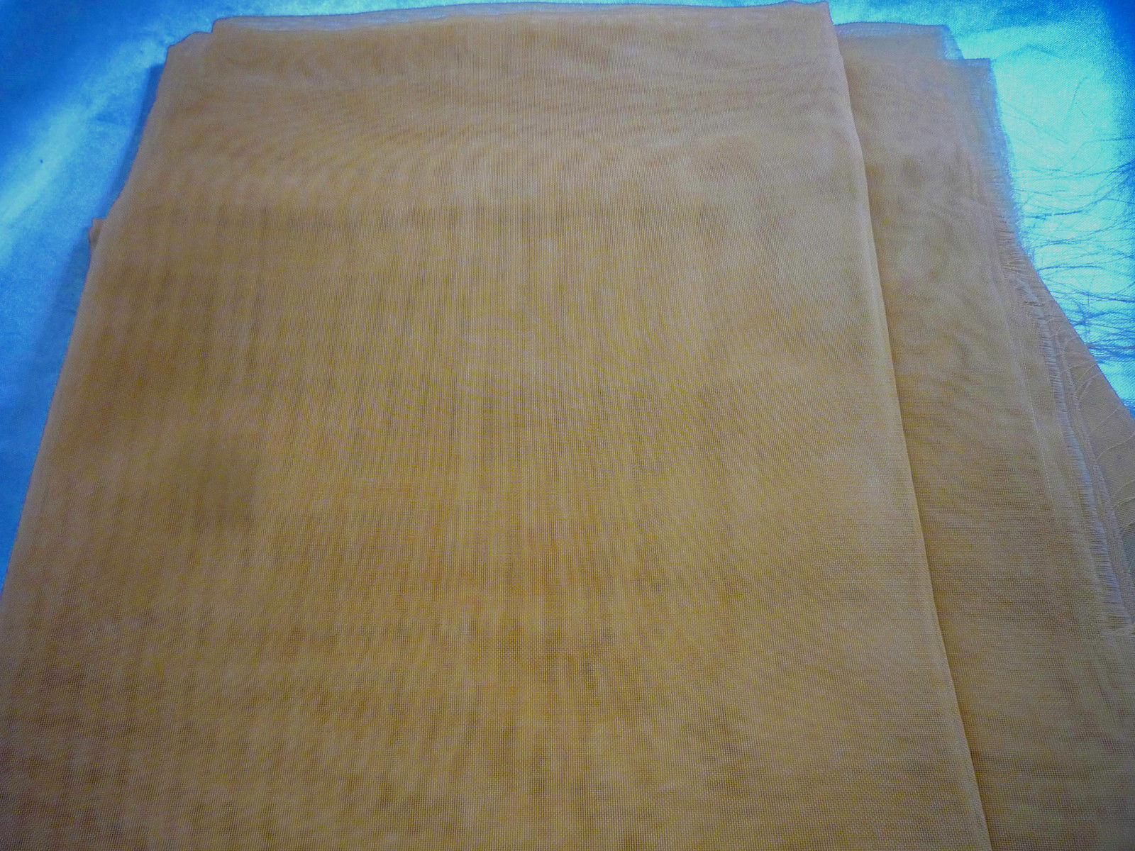 Primary image for Gold Sheer Organza Fabric Remnant  28 x 22 Polyester