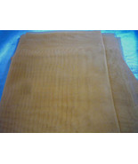 Gold Sheer Organza Fabric Remnant  28 x 22 Polyester - $2.00