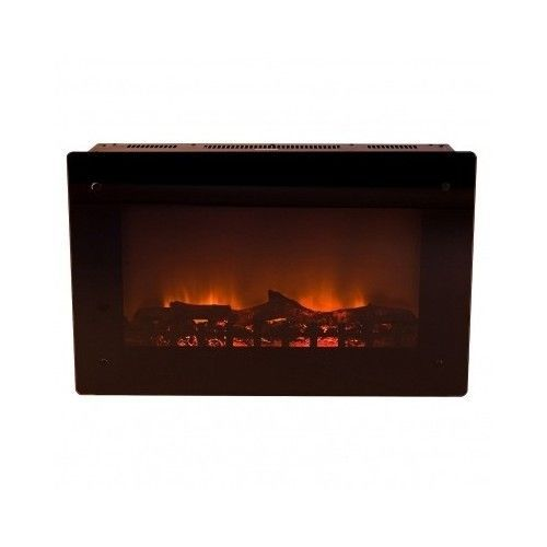 Electric Fireplace Wall Mount Flat Screen Space Heater Indoor Decor Flame Safety Fireplaces