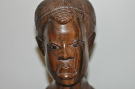 Hand Antique Carved Wooden African Face Statue Beautiful Sculpture - $112.19
