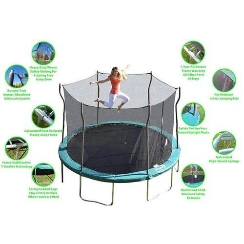 Large Trampolines 12 Ft Trampoline With Enclosure Safety