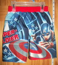 Marvel Heroes Baby Clothes 24M Captain America Superhero Swim Suit Avenger Trunk - $14.24