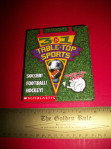 Scholastic Activity Book Kit Table-Top Sports Game 3-in-1 Hockey Footbal... - $7.59