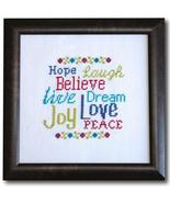 Words To Live By cross stitch chart Tiny Modernist Inc - $8.10